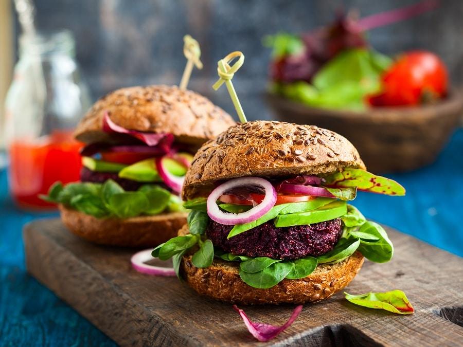 Klassische Veggie-Miniburger