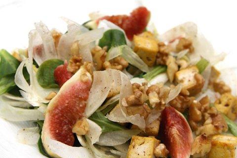 Feldsalat mit Feigen