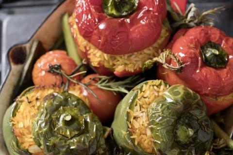 Vegan gefüllte Paprika