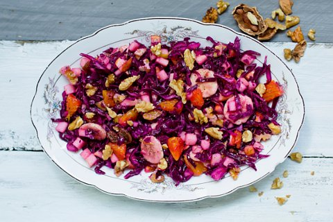 Veganer Rotkohlsalat