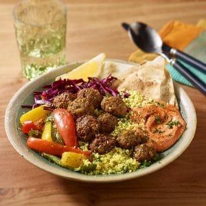 Falafel-Bowl mit Couscous