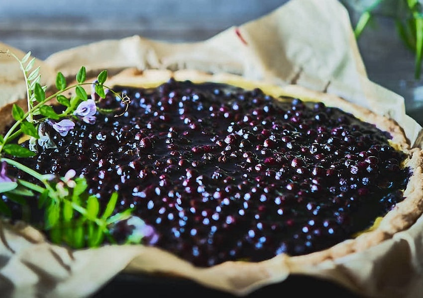 Heidelbeer-Vanille-Tarte