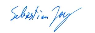 Unterschrift Sebastian Joy