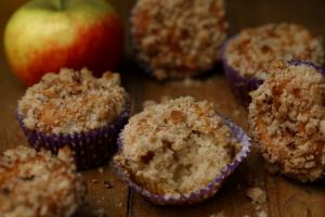 Appelkruimelmuffins