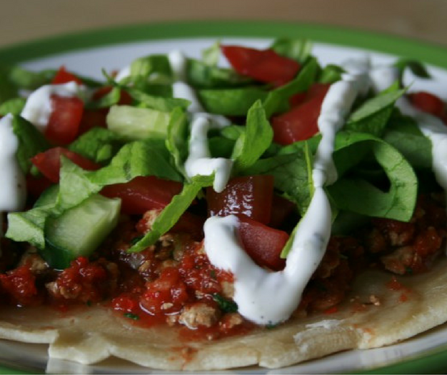Vegan Turkse Pizza