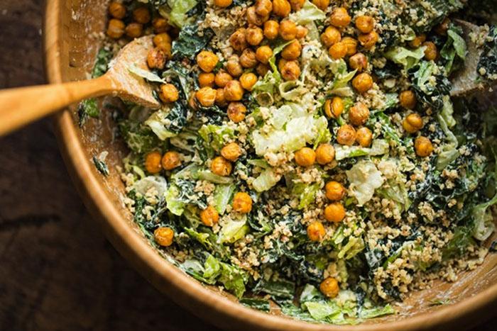 Vega recepten: caesar salad