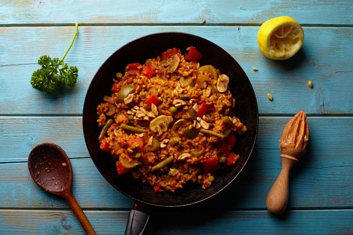 Week zonder Vlees vega recept groentepaella