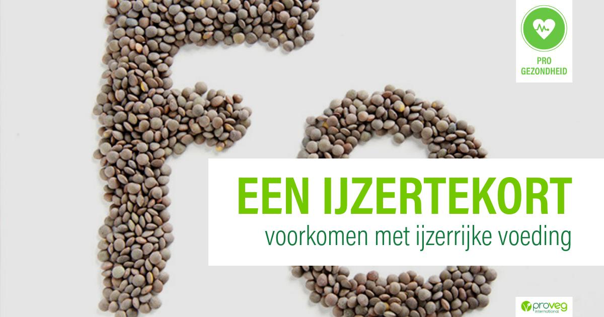 ijzertekort voorkomen met plantaardige voeding | proveg nl