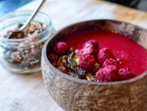 Pink smoothiebowl