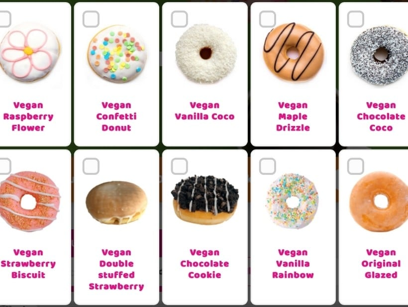 Dunkin' vegan assortiment